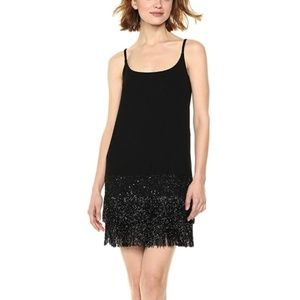 "Bailey 44 ""WHODUNIT"" Black Beaded Dress"